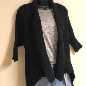Express Heavy Knit Short Sleeve Cardigan